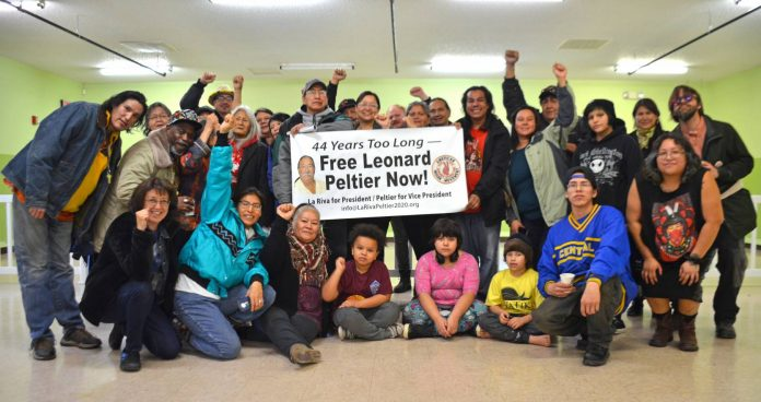 La Riva/Peltier campaign visit to Oglala, 2020