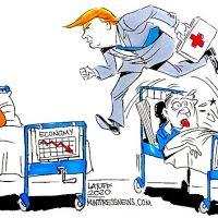 Covid Trump. Healthcare CarlosLatuff