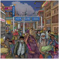 Covid Virus Art Vikas-Thakur_Migrant-Labour